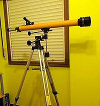 Telescopio fabricante aficionado