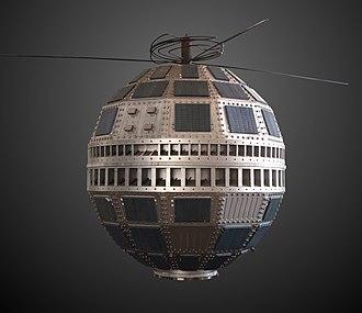 Telstar - Model of a Telstar satellite, on display at Conservatoire national des arts et métiers