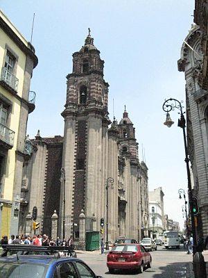 """Temple of San Felipe Neri """"La Profesa"""" - Facade of La Profesa"""