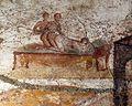 Terme di porta marina, affreschi a tema erotico nello spogliatoio, 05.jpg