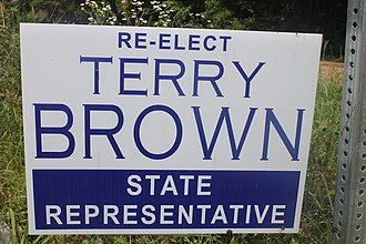 Terry Brown (Louisiana politician) - Brown campaign sign (2015)