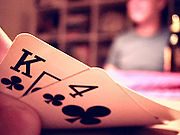 There are only two private cards in hold 'em. They are dealt first.