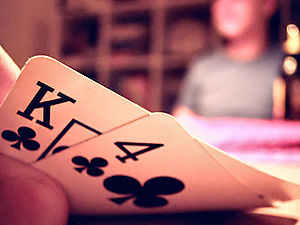 Texas hold 'em - Each player is dealt two private cards in hold 'em, which are dealt first.