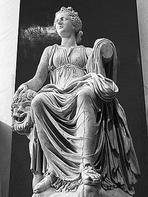 Thalia (Muse) - Roman statue of Thalia from Hadrian's Villa, now at the Prado Museum (Madrid)