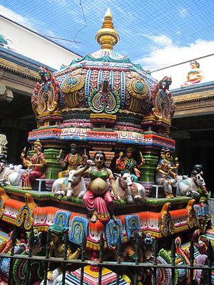 Thayumanaswami Temple, Rockfort - Shrine of Mattuvar Kuzhalammai