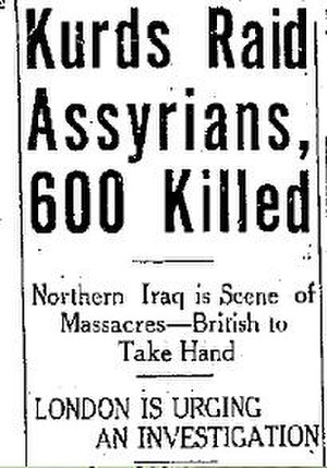 Simele massacre - The Lethbridge Herald, 18 August 1933
