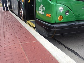 Silver Line (Grand Rapids) - Level boarding of bus rapid transit demonstrated