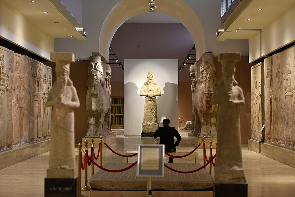The Assyrian gallery at the Iraq Museum