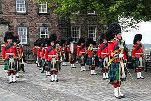 Drum major - The Band of The Royal Regiment of Scotland at Edinburgh Castle