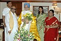 The Chief Minister of Tamil Nadu, Shri M. Karunanidhi, called on the Prime Minister, Dr. Manmohan Singh, in New Delhi on July 25, 2007.jpg