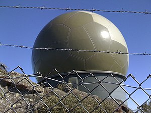 Cass Peak - The radar dome on Cass Peak