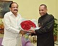 The Governor of Andhra Pradesh, Shri E.S.L. Narasimhan calling on the Vice President, Shri M. Venkaiah Naidu, in New Delhi on August 11, 2017.jpg