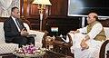 The Governor of Andhra Pradesh and Telangana, Shri E.S.L. Narasimhan calling on the Union Home Minister, Shri Rajnath Singh, in New Delhi on May 18, 2017.jpg