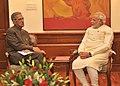 The Governor of Uttar Pradesh, Shri B.L. Joshi calling on the Prime Minister, Shri Narendra Modi, in New Delhi on June 04, 2014.jpg