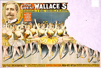 Bleistein v. Donaldson Lithographing Co. - Image: The Great Wallace Shows ballet circus poster