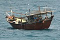 The Iranian-flagged fishing dhow MV Sohaila awaits assistance from U.S. Sailors with the visit, board, search and seizure team assigned to guided missile destroyer USS John Paul Jones (DDG 53) 120131-N-ZZ999-002.jpg