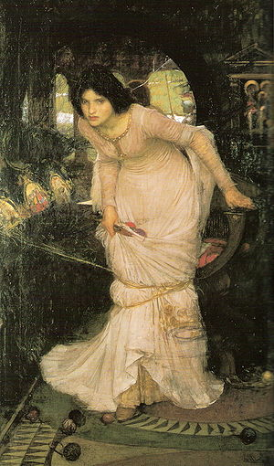 The Lady of Shalott - Waterhouse's The Lady of Shalott Looking at Lancelot, 1894