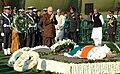 The Leader of Opposition in Lok Sabha, Shri L.K. Advani paying homage at the mortal remains of the former President, Shri R. Venkataraman, at Ekta Sthal in Delhi on January 28, 2009.jpg