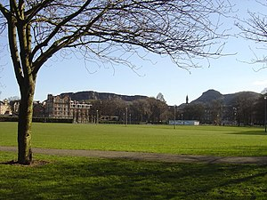 Edinburgh derby - The Meadows, where the first Edinburgh derby was played.