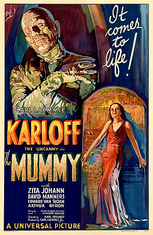 Film poster for the 1932 film The Mummy (1932 film)