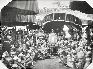 Ashanti Empire - Golden Stool (Sika ɗwa) in the Ashanti Kingdom, 1935.