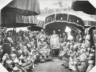 Ashanti Empire - Golden Stool (Sika dwa) in the Ashanti Kingdom, 1935.
