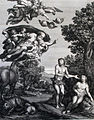 The Phillip Medhurst Picture Torah 21. Adam & Eve dicovered. Genesis cap 3 vv 9&19. Dominichino.jpg