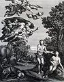 The Phillip Medhurst Picture Torah 21. Adam & Eve dicovered. Genesis cap 3 vv 9&19. Dominichino.jpg