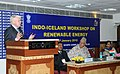 The President, Iceland, Dr. Olafur Ragnar Grimsson addressing the Indo-Iceland Workshop on Renewable Energy, in New Delhi on January 15, 2010.jpg