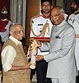 The President, Shri Ram Nath Kovind presenting the Padma Vibhushan Award to Shri P. Parameswaran, at the Civil Investiture Ceremony, at Rashtrapati Bhavan, in New Delhi on March 20, 2018.jpg