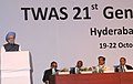 The Prime Minister, Dr. Manmohan Singh delivering the inaugural address at the Annual Meeting of the Academy of Sciences for the Developing World – 2010, in Hyderabad on October 19, 2010.jpg