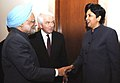 The Prime Minister, Dr. Manmohan Singh meets the Chairman and CEO, Pepsi Co. and Chairman, USIBC (US-India Business Council), Ms. Indra K. Nooyi, during the US-India Business Council, in Washington on November 23, 2009.jpg