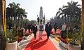 The Prime Minister, Shri Narendra Modi and the Prime Minister of Israel, Mr. Benjamin Netanyahu, at Teen Murti Chowk, in New Delhi on January 14, 2018 (2).jpg