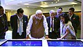 The Prime Minister, Shri Narendra Modi visiting the 'Virtual Digital Exhibition', at the inauguration of the Global Mobility Summit, organised by NITI Aayog, in New Delhi (2).JPG