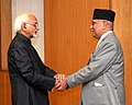 The Prime Minister of Nepal, Shri K.P. Sharma Oli calling on the Vice President, Shri M. Hamid Ansari, in New Delhi on February 20, 2016.jpg