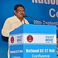 The Union Minister for Tribal Affairs, Shri Jual Oram addressing the National SC-ST Hub Confluence, organised by the Ministry of Micro, Small & Medium Enterprises, in New Delhi on September 20, 2017.jpg