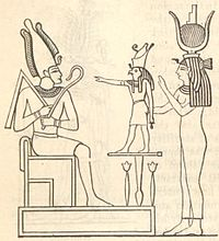 The mythological Trinity or Triad Osiris Horus Isis