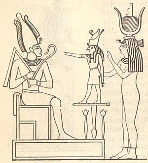 Haqq–Muhammad–Ali - Image: The mythological Trinity or Triad Osiris Horus Isis