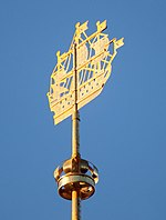 The ship on the Admirality on the steeple of Admirality, St. Petersburg.jpg