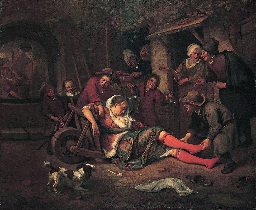 The wine is a mocker 1663-1664 Jan Steen