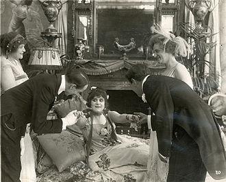 Camille (1917 film) - Film still with Theda Bara