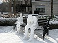 Thinking about the snow storm - two snowmen in Church Square, Tring - geograph.org.uk - 1629484.jpg