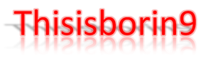 Logo for Thisisborin9, self-made with Microsof...