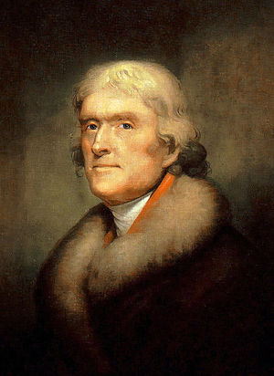 English: Portrait of Thomas Jefferson, founder...