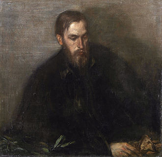 Thomas Sturge Moore - Thomas Sturge Moore, portrait by Charles Shannon, c. 1897, a.k.a. The Man with a Yellow Glove