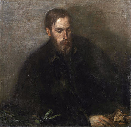 Thomas Sturge Moore, portrait by Charles Shannon, c. 1897, a.k.a. The Man with a Yellow Glove Thomas Sturge Moore, by Charles Shannon.jpg