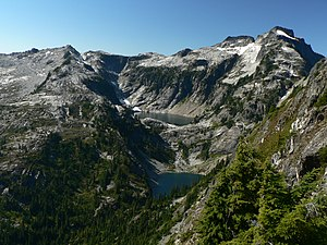 North Cascades - Typical landscape in the western part of the North Cascades