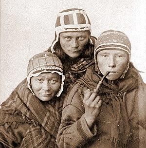 Sami history - Three Sami women circa 1890s