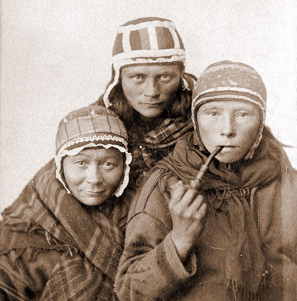 Three Sámi Lapp women, c1890s