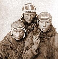 Arctic regions: Sami man with reindeer -- Kids Encyclopedia ...